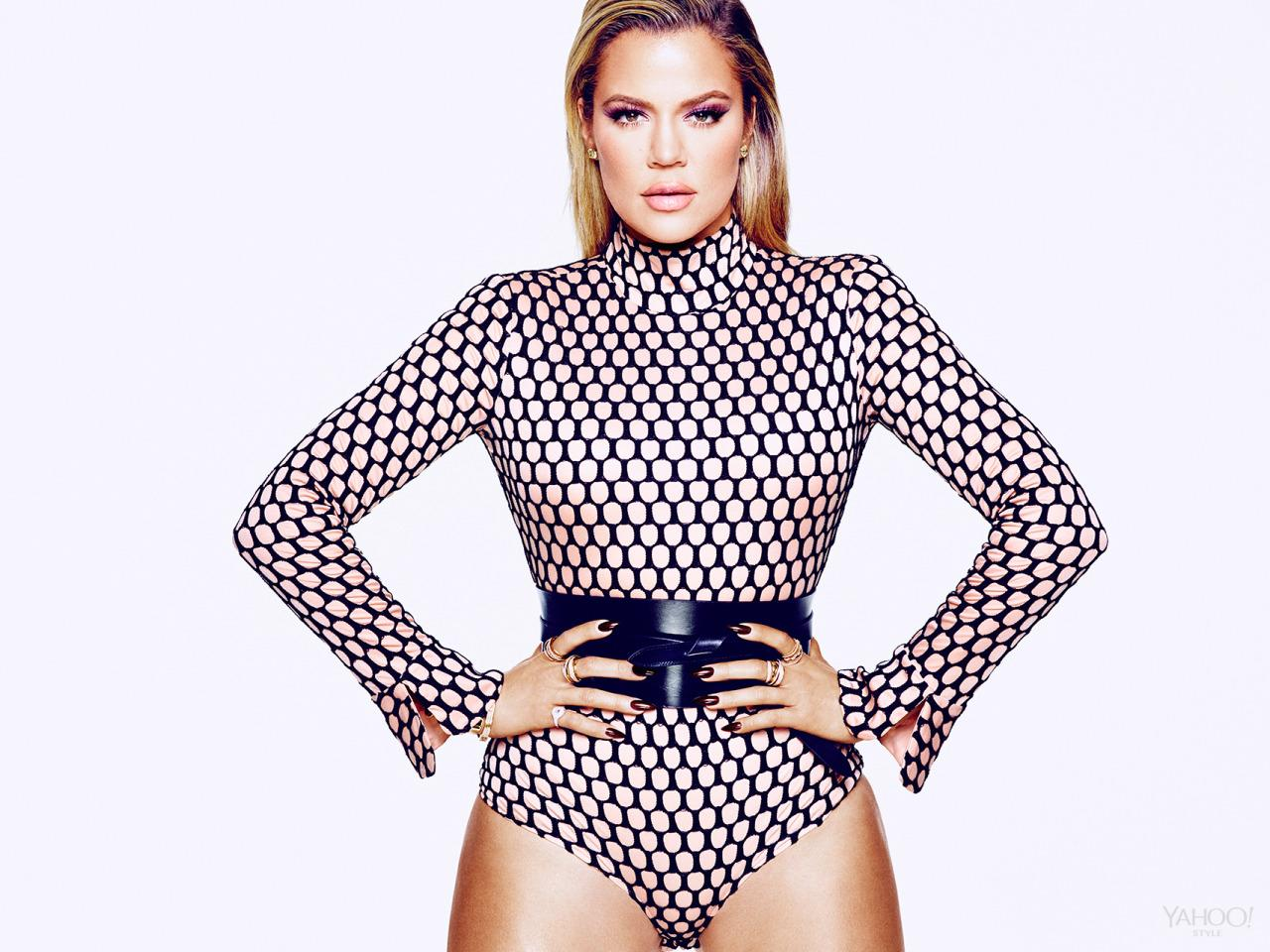"<p>Khloé's reputation for the being the funniest member of the Kardashian Jenner clan is well deserved. ""Sometimes I talk too much. I'm just … very honest,"" she says. ""I've also had people be like 'Oh my God, you're so funny, will you tell me a joke?' And I'm like 'I'm not Kathy Griffin!' As much as I wish I could, I don't do stand-up."" </p><p>Véronique Leroy Blush & Black Meshed Bodysuit, $822, <a href=""http://openingceremony.us/ocsearch.asp?keyword=veronique%20leroy"">openingceremony.us</a><br /></p><p><i>Isabel Marant Dudley Leather Belt, $420, <a href=""http://www.net-a-porter.com/us/en/product/606590?cm_mmc=ProductSearchUS_PLA_c-_-Isabel%20Marant-_-Accessories-Belts-Wide-_-83331735874_606590-304&gclid=CJaCsbTD6sgCFYkWHwodttUGUg"">net-a-porter.com</a><br />SHAY Baugette Orbit Ring in 18k Gold and Diamonds,$7,560, <br /><a href=""http://www.shayfinejewelry.com/"">shayfinejewelry.com</a><br />SHAY Essential Orbit Ring in 18k Gold and Diamond Orbit Ring, $5,460, <a href=""http://www.shayfinejewelry.com/"">shayfinejewelry.com</a><br />SHAY 5 Row Closed Mixed Diamond Ring, $7,140, <a href=""http://www.shayfinejewelry.com/"">shayfinejewelry.com</a><br />SHAY Essential Pave Link Barcelet, $16,380, <a href=""http://www.shayfinejewelry.com/"">shayfinejewelry.com</a><br />SHAY Essential Link Pavé ID Bracelet in 18K Gold and Diamonds, $10,080, <a href=""http://www.shayfinejewelry.com/"">shayfinejewelry.com</a><br />SHAY Triple Moving Diamond Bracelet in 18K Gold and Diamonds, $6,300, <a href=""http://www.shayfinejewelry.com/"">shayfinejewelry.com</a><br />SHAY Name Plate Bracelet with Diamond Trim set in 18k Gold, $5,880, <a href=""http://www.shayfinejewelry.com/"">shayfinejewelry.com</a></i></p>"