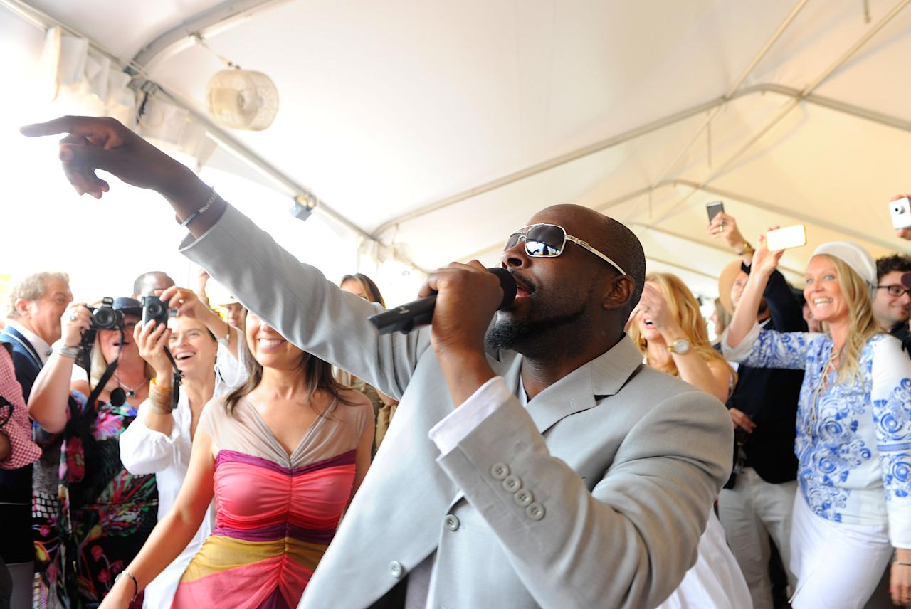 NEW YORK, NY - JUNE 05:  Wyclef Jean performs at the Veuve Clicquot Polo Classic at Governor's Island on June 5, 2011 in New York City.  (Photo by Andrew H. Walker/Getty Images for Veuve Clicquot Polo Classic)