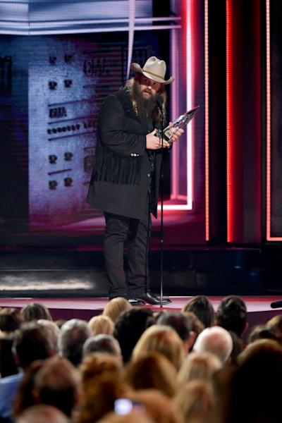 Singer-songwriter Chris Stapleton cleaned up with three Country Music Awards including Male Vocalist of the Year