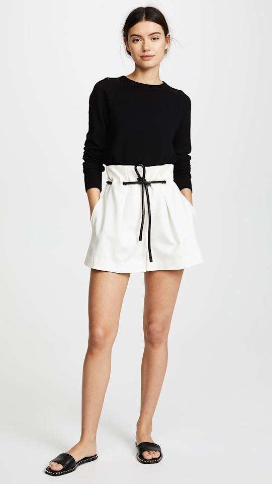 "<p>Wrap up these <a href=""https://www.popsugar.com/buy/31-Phillip-Lim-Origami-Pleated-Shorts-549243?p_name=3.1%20Phillip%20Lim%20Origami%20Pleated%20Shorts&retailer=shopbop.com&pid=549243&price=325&evar1=fab%3Aus&evar9=47220072&evar98=https%3A%2F%2Fwww.popsugar.com%2Ffashion%2Fphoto-gallery%2F47220072%2Fimage%2F47220092%2F31-Phillip-Lim-Origami-Pleated-Shorts&list1=shopping%2Cshorts%2Cspring%20fashion%2Cbest%20of%202020&prop13=mobile&pdata=1"" rel=""nofollow"" data-shoppable-link=""1"" target=""_blank"" class=""ga-track"" data-ga-category=""Related"" data-ga-label=""https://www.shopbop.com/origami-pleated-short-31-phillip/vp/v=1/1514532152.htm?folderID=13297&amp;fm=other-shopbysize-viewall&amp;os=false&amp;colorId=1071B&amp;ref=SB_PLP_DB_71"" data-ga-action=""In-Line Links"">3.1 Phillip Lim Origami Pleated Shorts</a> ($325), because we'll take them ASAP.</p>"