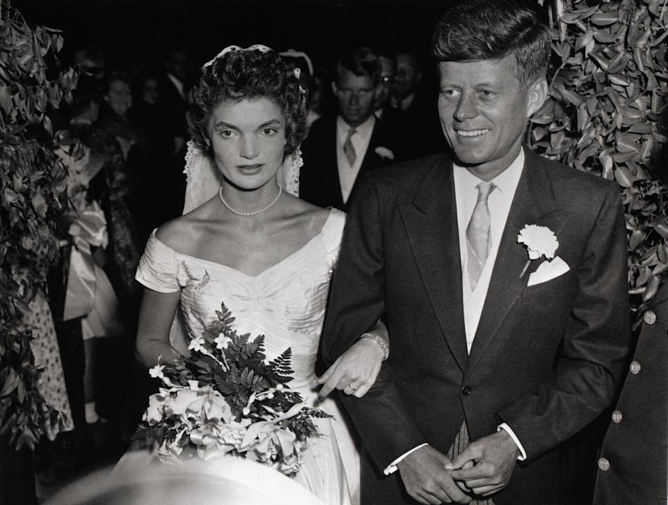 <p>The 35th President of the United States married Bouvier eight years before taking office. The two tied the knot at St. Mary's Church in Newport, Rhode Island on September 12th, 1953. Following Kennedy's assassination in 1963, Jacqueline went on to marry businessman Aristotle Onassis. The two were together from 1968–1975.<br></p>