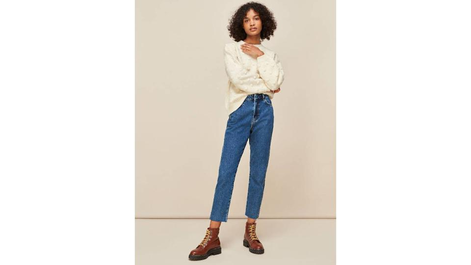 Whistles Authentic Slim Frayed Jean