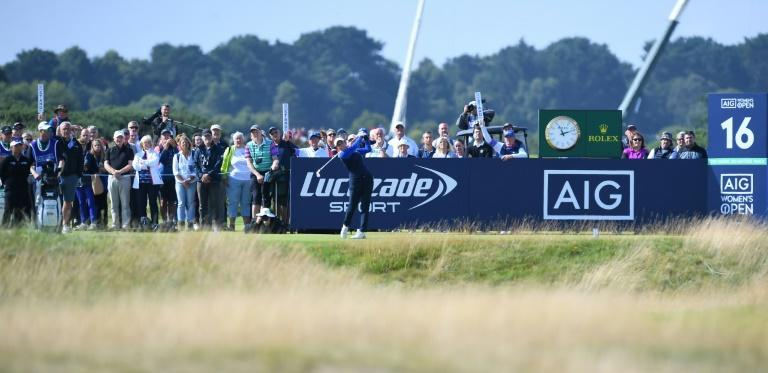 England's Georgia Hall moved into a share of the lead after her second round at the British Open on Friday