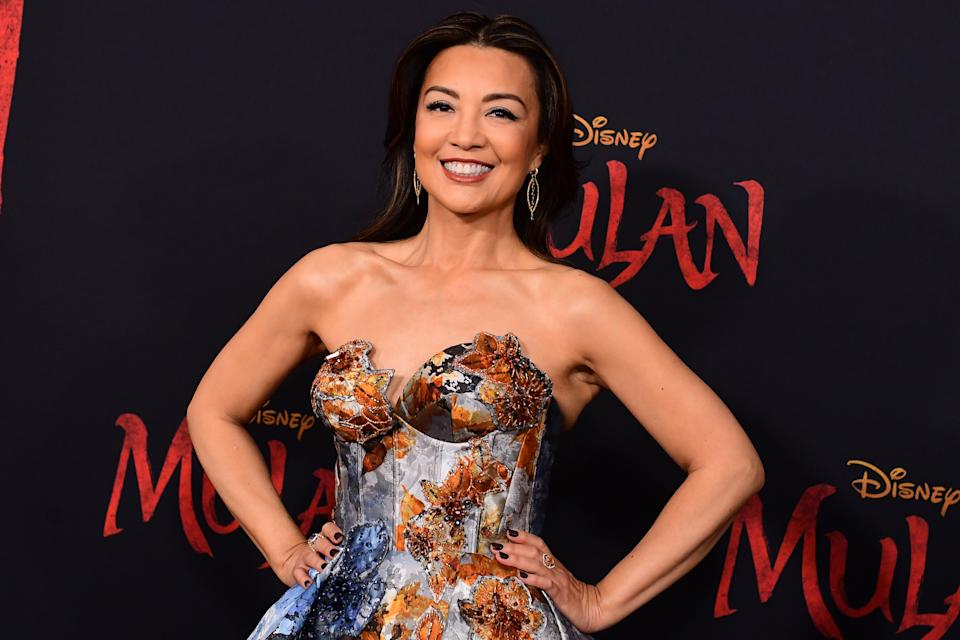 "US/Chinese actress Ming-Na Wen attends the world premiere of Disney's ""Mulan"" at the Dolby Theatre in Hollywood on March 9, 2020. (Photo by FREDERIC J. BROWN / AFP) (Photo by FREDERIC J. BROWN/AFP via Getty Images)"