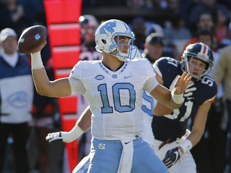 hot sale online dd7e9 7a26a Could Mitch Trubisky go top 3? Browns, 49ers, Bears all need ...