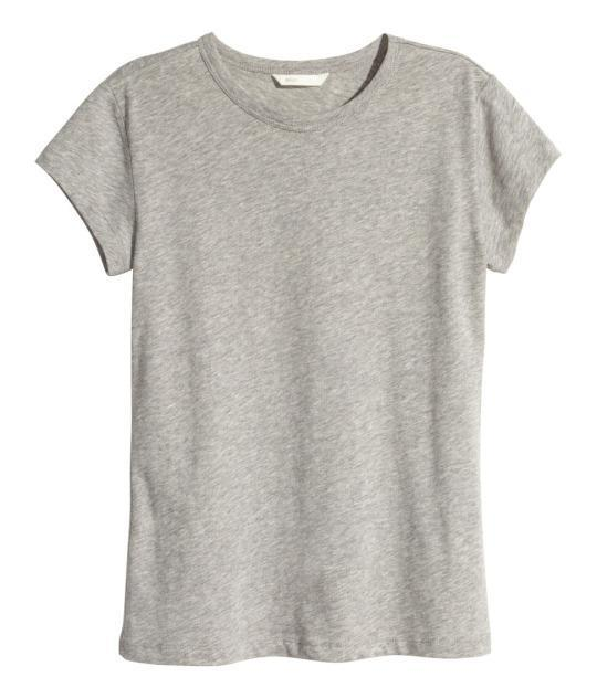 """<p>H&M Jersey Top in Gray, $6, <a href=""""http://www.hm.com/us/product/89965?article=89965-H"""" rel=""""nofollow noopener"""" target=""""_blank"""" data-ylk=""""slk:H&M"""" class=""""link rapid-noclick-resp"""">H&M</a>.<br></p>"""