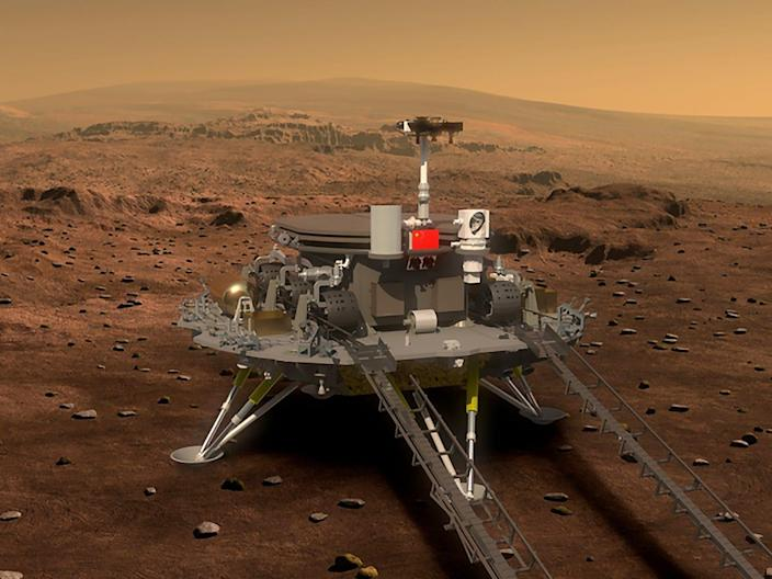china mars global remote sensing and small rover hx 1 martian mission illustration rendering cas xinhua