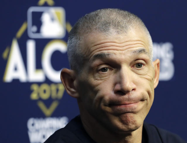 Joe Girardi is out as manager of the New York Yankees. (AP)