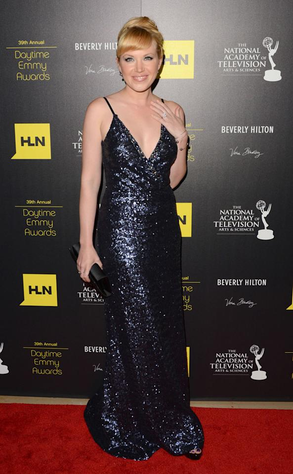 Adrienne Frantz arrives at The 39th Annual Daytime Emmy Awards held at The Beverly Hilton Hotel on June 23, 2012 in Beverly Hills, California.
