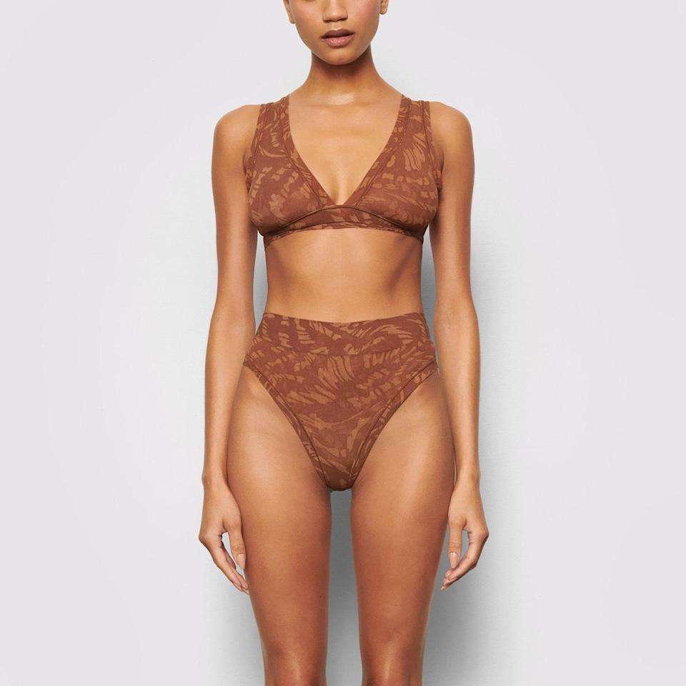 <p>Influencers have been getting this <span>Skims Summer Mesh Triangle Bralette</span> ($38) and now I think I need it. This is the first pattern Skims has ever produced.</p>