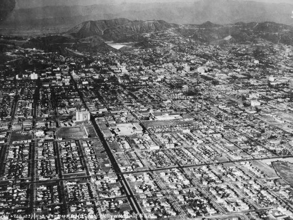 <p>This aerial view of Hollywood in November 1929 proves just how residential it was before more buildings started popping up all over the city. </p>