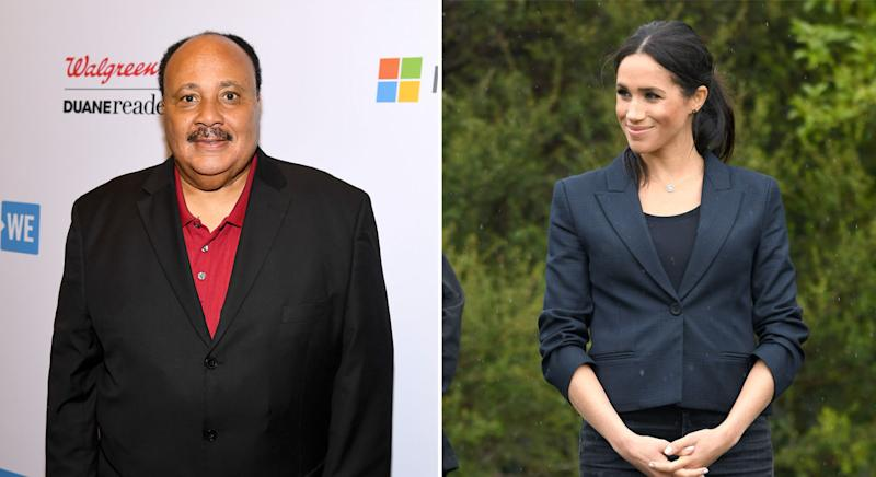 Martin Luther King III said he wasn't surprised by how Meghan was treated. (Getty Images)