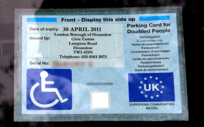 Blue disabled parking badges are valid across the EU - Anthony Devlin