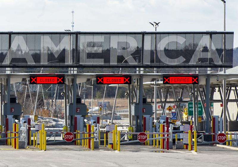 The United States border crossing is seen on March 18, 2020 in Lacolle, Que. (Photo: Ryan Remiorz/THE CANADIAN PRESS)