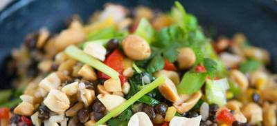 The Peanut Institute is sharing simple, healthy recipes for home cooking, including this Mediterranean Grain Medley with Peanuts. It's a tasty vegetarian salad with ancient grains, fresh vegetables and peanuts that's packed with protein.