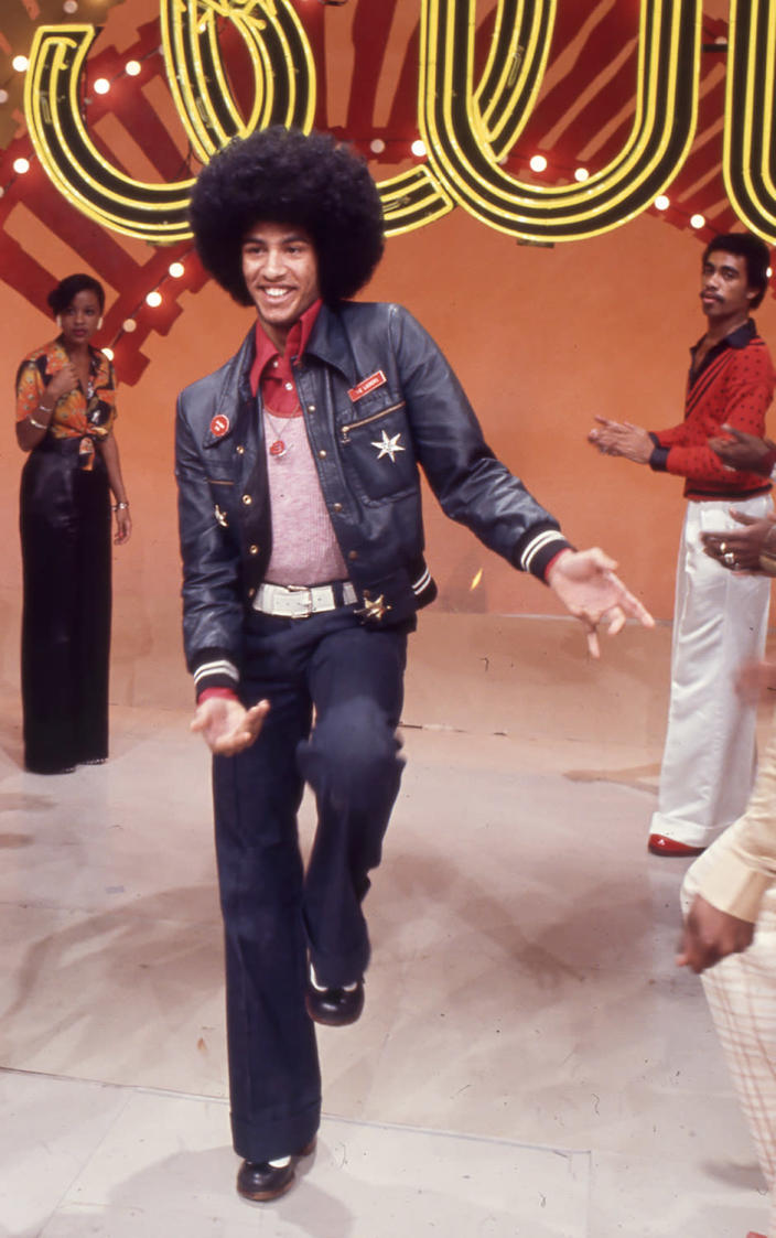 Image: Popular dancer Adolfo Quinones aka Shabba Doo boogies down the Soul Train Line. (Soul Train via Getty Images file)