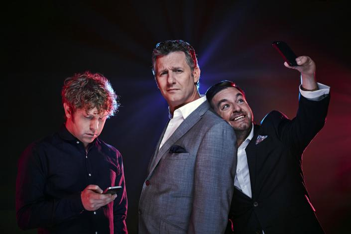 The Last Leg, Adam Hills (c) and co-hosted by Josh Widdicombe and Alex Brooker. (C4)