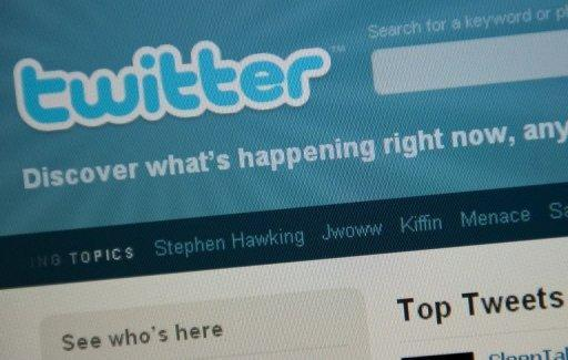 The Twitter homepage appears on a screen in Washington in 2010. USA Today, the flagship paper of Gannett, the largest US newspaper chain, issued on apology on Sunday after the hackers seized control of the @usatoday account and issued a series of tweets