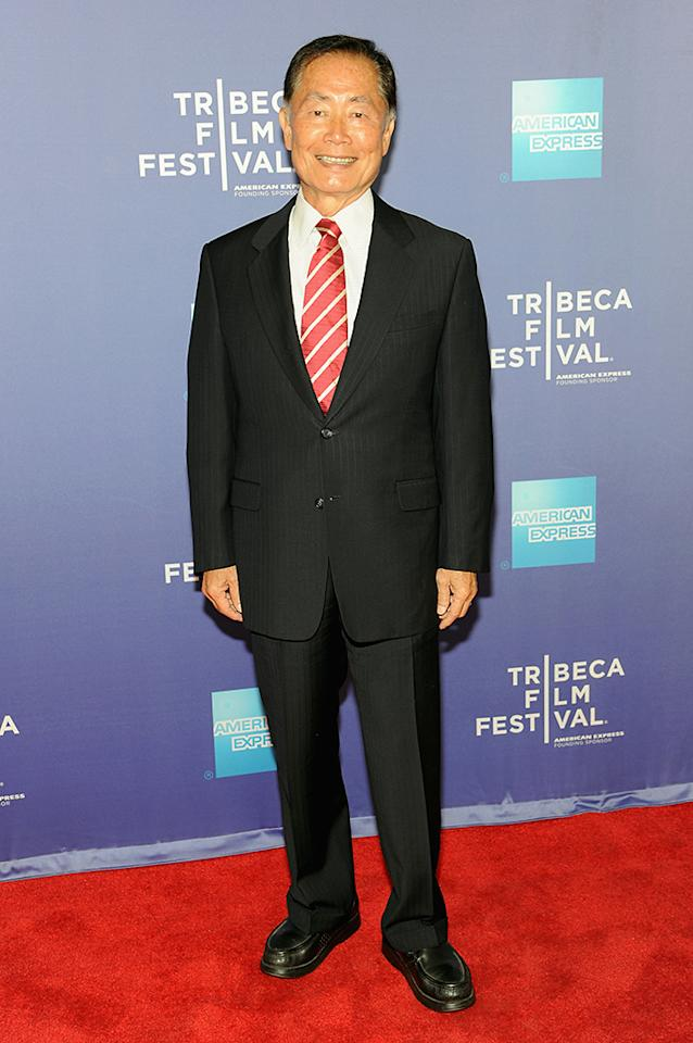 "Actor George Takei attends the ""Bridegroom"" World Premiere during the 2013 Tribeca Film Festival on April 23, 2013 in New York City."