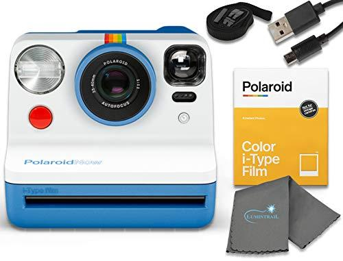 Polaroid Now I-Type Instant Film Camera - Black Bundle with a Color i-Type Film Pack (8 Instant Photos) and a Lumintrail Cleaning Cloth (Amazon / Amazon)