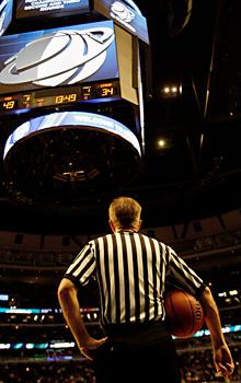 Guys in stripes have own bracket