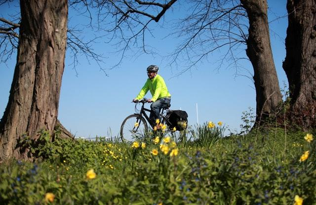 A cyclist gets their daily exercise in Stoke Park, Guildford (Adam Davy/PA Wire)