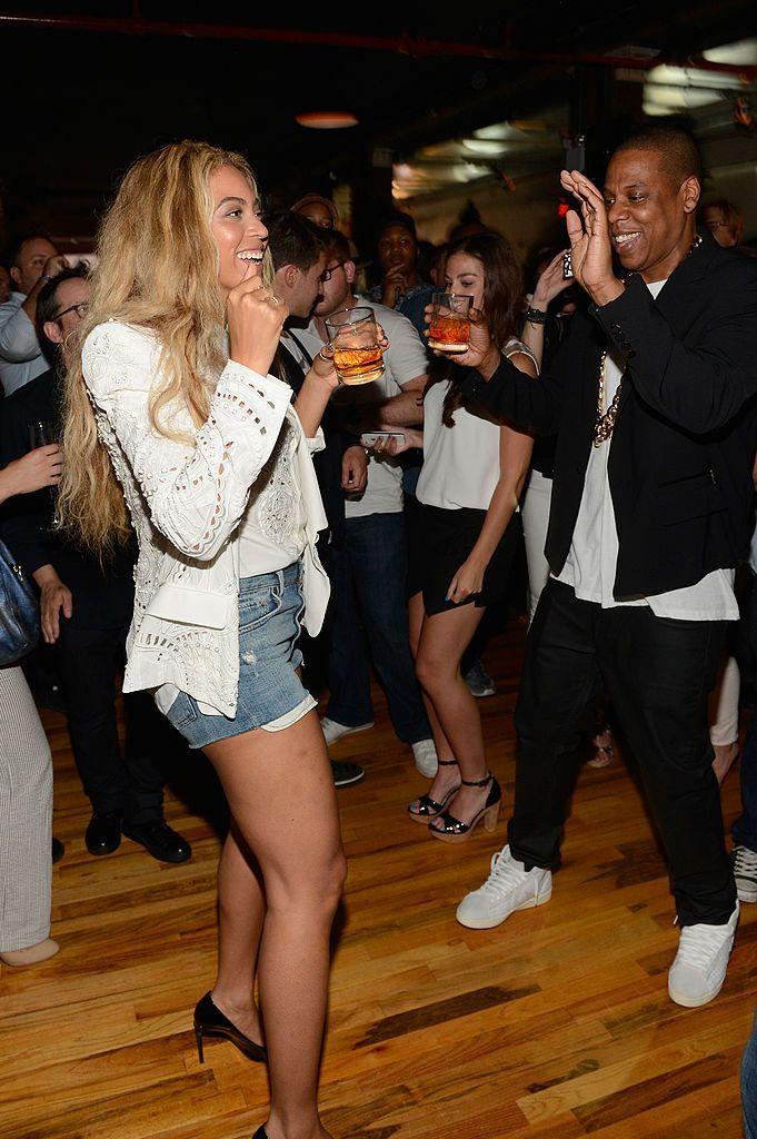 <p>The couple danced together at an event in Brooklyn to celebrate the release of Jay-Z's album Magna Carta Holy Grail.</p>