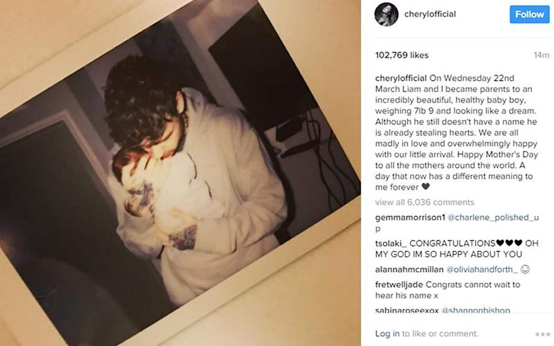 One Direction star Liam Payne and Cheryl have become parents to a baby boy. - PA