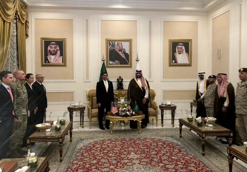 Pentagon chief visits Saudi Arabia as tensions simmer with Iran
