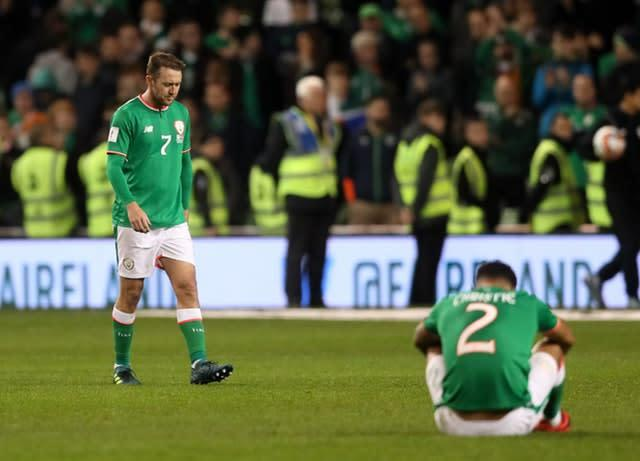 The Republic of Ireland missed out on the chance to play at the 2018 FIFA World Cup (Brian Lawless/PA)