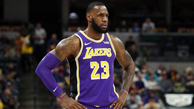 Right now for LeBron James and the Lakers, a picture is worth a thousand words.