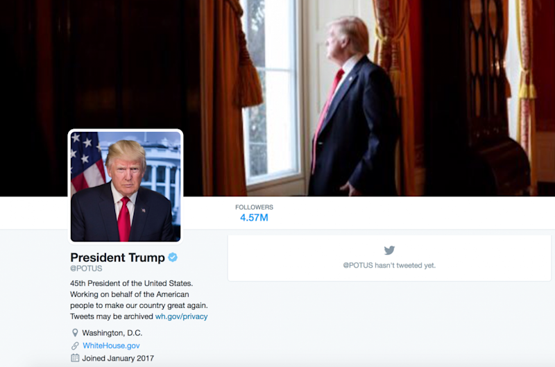 trump potus twitter account used photo from obama inauguration