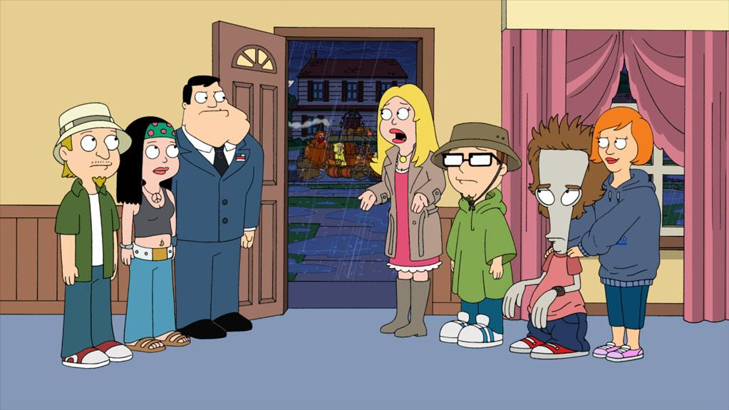 """When a storm hits Langley Falls the Smiths must stay home in the """"Hurricane!"""" episode of """"American Dad."""""""