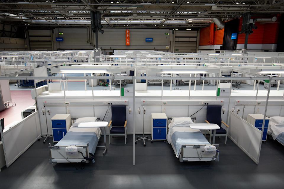 EMBARGOED TO 1330 Thursday April 16, 2020. The Duke of Cambridge speaks via videolink as he officially opens the NHS Nightingale Hospital Birmingham, in the National Exhibition Centre (NEC).