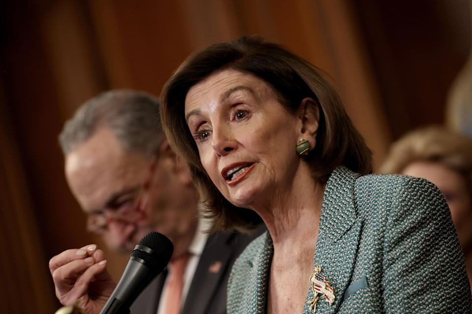 House Speaker Nancy Pelosi (D-Calif.) and House Democrats proposed a paid leave program to deal with the fallout from coronavirus. (Photo: Win McNamee via Getty Images)