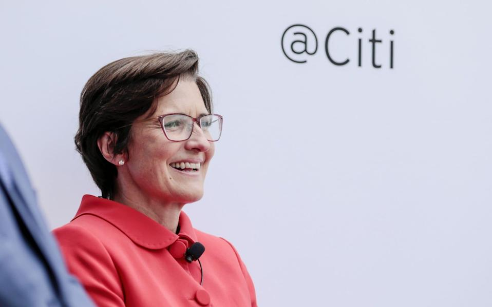 Jane Fraser has started to make her mark at Citi one month after joining as chief executive - Kyle Grillot/Bloomberg
