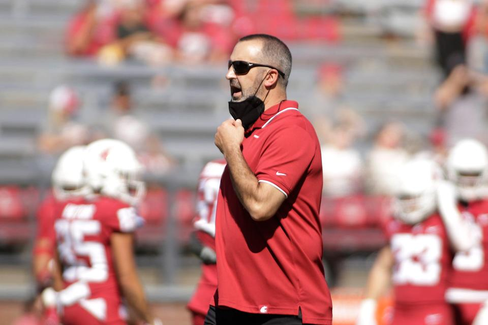 Washington State coach Nick Rolovich has declined to say whether he has received the COVID-19 vaccine.