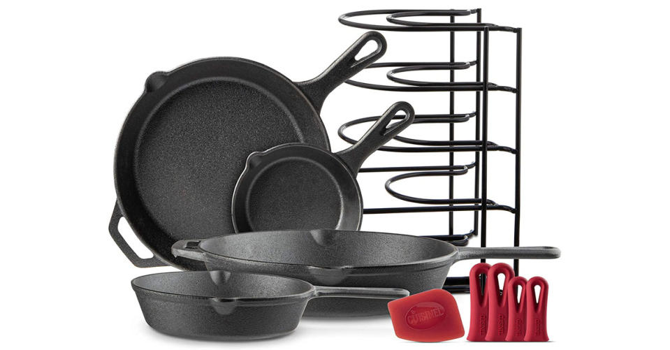 Cast Iron Skillet Set (6-inch, 8-Inch, 10-Inch, 12-Inch) (Photo: Amazon)