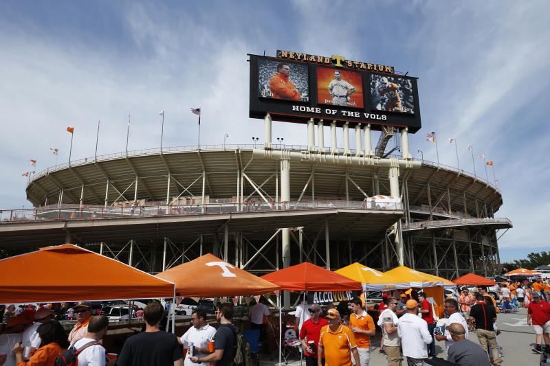 KNOXVILLE, TN - SEPTEMBER 30: General view outside the stadium prior to a game between the Tennessee Volunteers and Georgia Bulldogs at Neyland Stadium on September 30, 2017 in Knoxville, Tennessee. Georgia won 41-0. (Photo by Joe Robbins/Getty Images) *** Local Caption ***