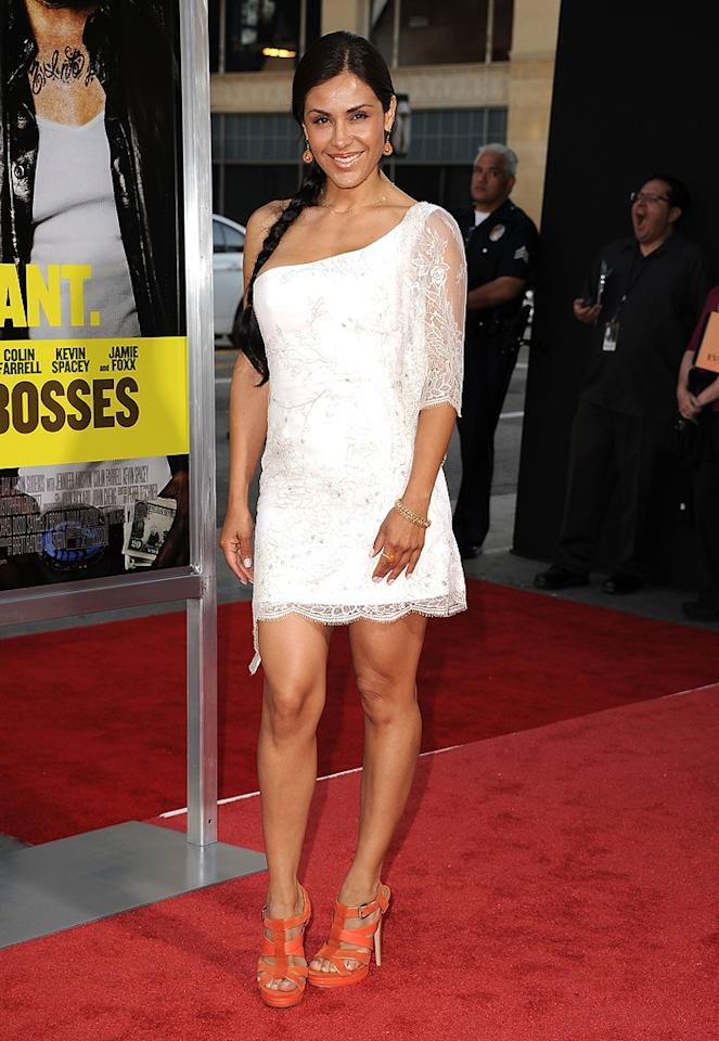 """<a href=""""http://movies.yahoo.com/movie/contributor/1809593093"""">Carla Ortiz</a> at the Los Angeles premiere of <a href=""""http://movies.yahoo.com/movie/1810161382/info"""">Horrible Bosses</a> on June 30, 2011."""