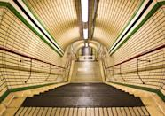 """<b>Tottenham Station</b><br> Steep stairs lead down into London's Tottenham Court Road tube station.<br> Photograph by <a href=""""http://ngm.nationalgeographic.com/myshot/gallery/262767"""" rel=""""nofollow noopener"""" target=""""_blank"""" data-ylk=""""slk:Elena Baroni"""" class=""""link rapid-noclick-resp"""">Elena Baroni</a>, <a href=""""http://ngm.nationalgeographic.com/myshot/"""" rel=""""nofollow noopener"""" target=""""_blank"""" data-ylk=""""slk:My Shot"""" class=""""link rapid-noclick-resp"""">My Shot</a>"""