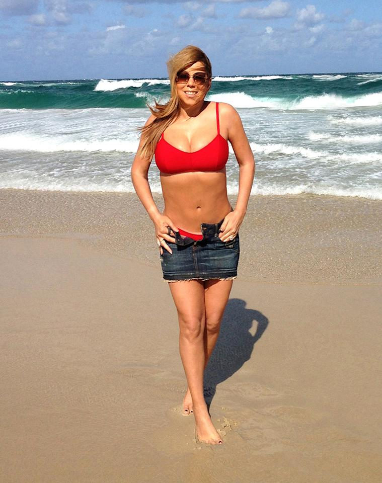 "Regardless of if you're on Team Mariah or Team Nicki on ""American Idol,"" there's no debate that Ms. Carey looks incredible on the beaches of Australia. (1/7/13)"