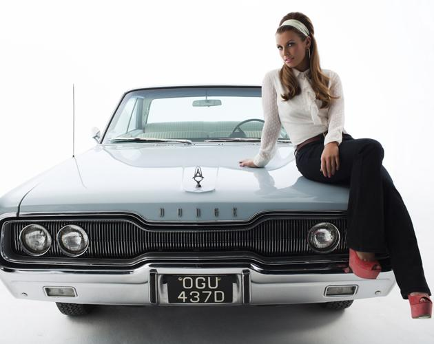 Sexy celebrity ad campaigns:  Coleen Rooney opted for subtle sexiness as she sat somewhat provocatively on a vintage car on the shoot for her new clothing line for Littlewoods.