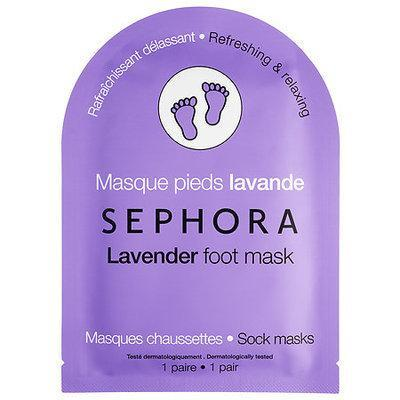 """<h3><strong>Sephora Collection</strong> Lavender Foot Mask</h3> <br><br>Looking for something a little less messy? Reach for a softening foot mask like this one. It's infused with safflower seed oil and hyaluronic acid to hydrate tired soles.<br><br><strong>Sephora Collection</strong> Lavender Foot Mask, $, available at <a href=""""https://go.skimresources.com/?id=30283X879131&url=https%3A%2F%2Fwww.sephora.com%2Fproduct%2Ffoot-mask-P408904"""" rel=""""nofollow noopener"""" target=""""_blank"""" data-ylk=""""slk:Sephora"""" class=""""link rapid-noclick-resp"""">Sephora</a><br><br>"""
