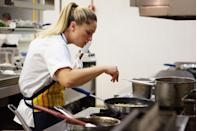 """<p>The one thing we're sure the contestants on <em>Top Chef</em> are happy about? No dirty dishes. The production company takes care of """"<a href=""""https://www.nydailynews.com/life-style/eats/lowdown-making-top-chef-article-1.225838"""" rel=""""nofollow noopener"""" target=""""_blank"""" data-ylk=""""slk:turning the kitchen"""" class=""""link rapid-noclick-resp"""">turning the kitchen</a>"""" after every challenge.</p>"""