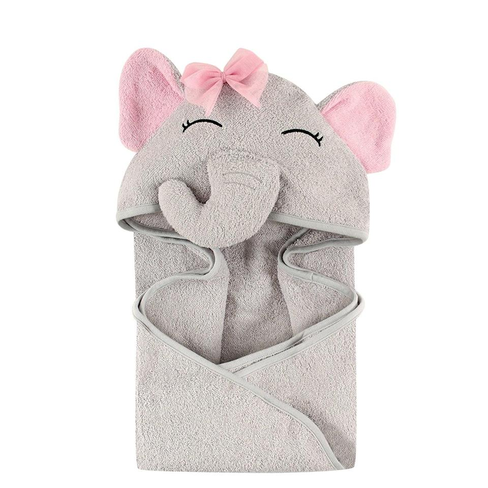 <p>Your little one will stay cozy after bath time with this <span>Hudson Baby Animal Face Hooded Towel</span> ($11).</p>