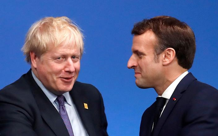 The French President with Boris Johnson in December 2019 - Christian Hartmann