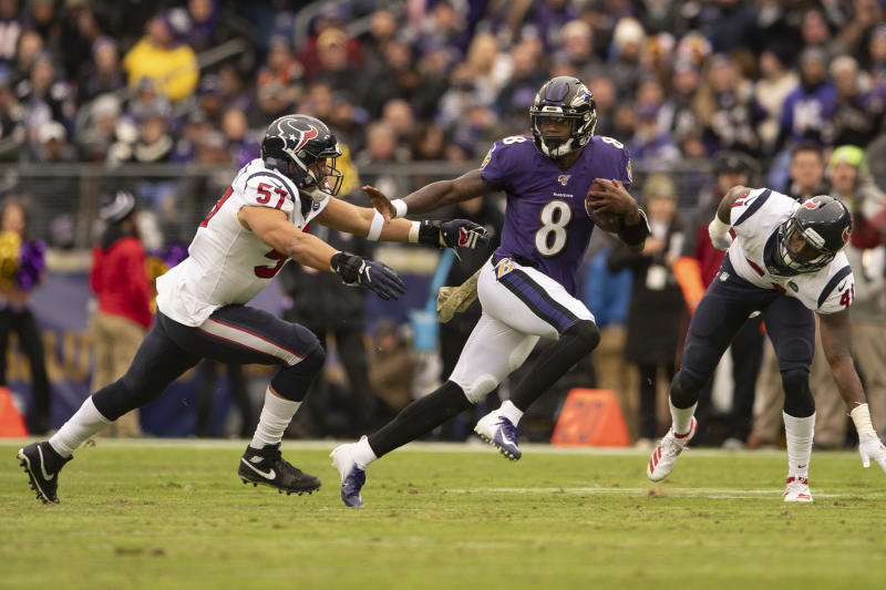 Ravens QB Lamar Jackson presents another ball carrier Texans must defend