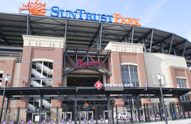 "The <a class=""link rapid-noclick-resp"" href=""/mlb/teams/atlanta/"" data-ylk=""slk:Atlanta Braves"">Atlanta Braves</a> are being sued by the widow of a man who was found dead inside a SunTrust Park walk-in beer cooler on June 26, 2018. (Getty Images)"