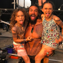 "<p>Talk about a superhero dad! ""I simply love you, more than I love myself,"" was the <em>Aquaman</em> star's message to his kids, daughter Lola and son Nakoa, as he shared this silly snap. ""Listening to Elton with the loves of my life. Raising sensitive savages. Priceless day on set. Proud to be aqua papa."" (Photo: <a href=""https://www.instagram.com/p/BX2hERon5Sr/?taken-by=prideofgypsies"" rel=""nofollow noopener"" target=""_blank"" data-ylk=""slk:Jason Momoa via Instagram"" class=""link rapid-noclick-resp"">Jason Momoa via Instagram</a>) </p>"